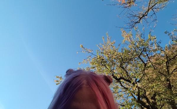 Was haltet ihr von Splithair Also Haare in der Mitte geteilt und eine Seite zB