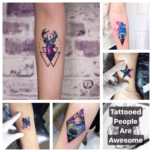 A tatuaże z motywem kosmosu Najlepiej małe