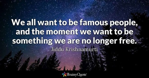 Would you like to be famous  Reason