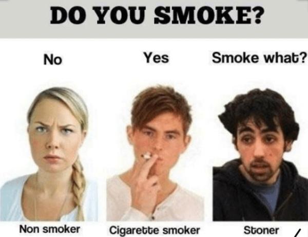 Hast du schonmal was anderes als Zigaretten geraucht
