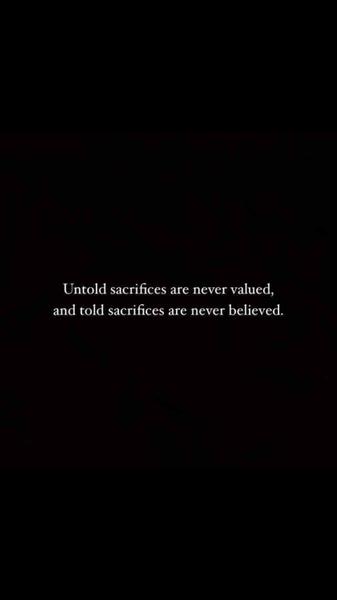 Sadest reality of life
