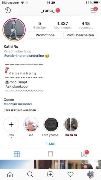 Hast du einen Instagram Account