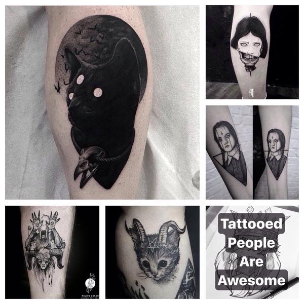 Jakieś mroczne tatuaże  D