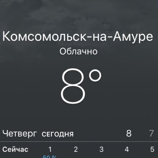 Какая погода у вас в городе