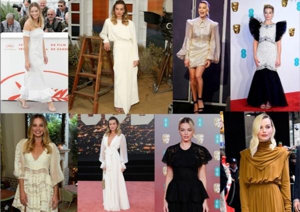 W jakich sukienkach Margot wygląda Twoim zdaniem najlepiej a w jakich niezbyt