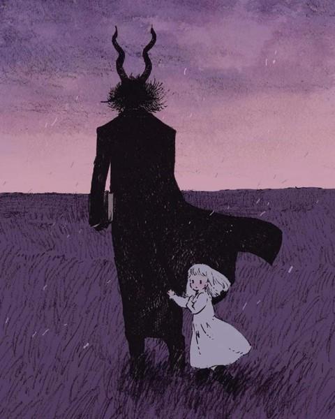 يخاف الشيطان يوم يقابل ملاكا  يقع في الحب و يغني أغنيته يحدق في داخله