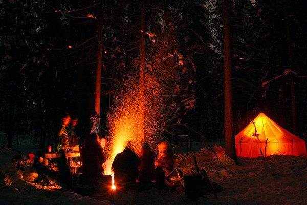 собственный рассказ  темный лес костёр гитара друзья рассказы смех шум треск