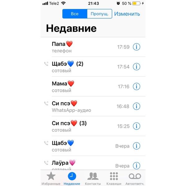 Имя человека с которым ты последний раз разговаривал по телефону