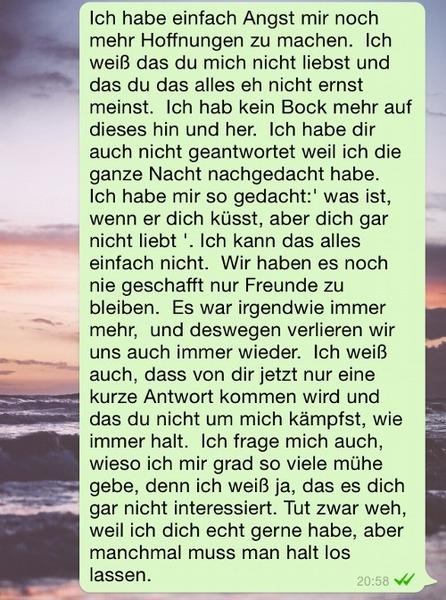 Whatsapp status liebeskummer Sprüche Verletzt