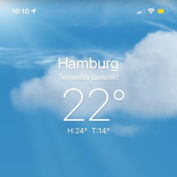 Ist bei dir auch so schönes Wetter