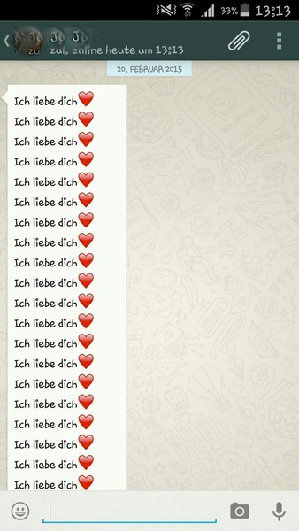 Whatsapp liebe süße chats WhatsApp