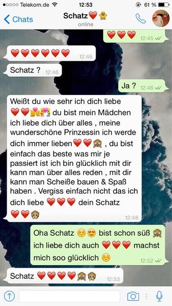 Süße whatsapp chats liebe