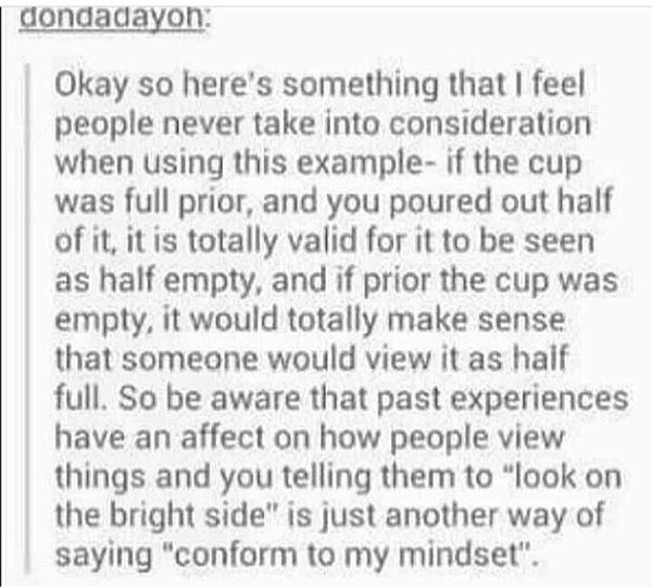 Ist das Glas halb voll oder halb leer
