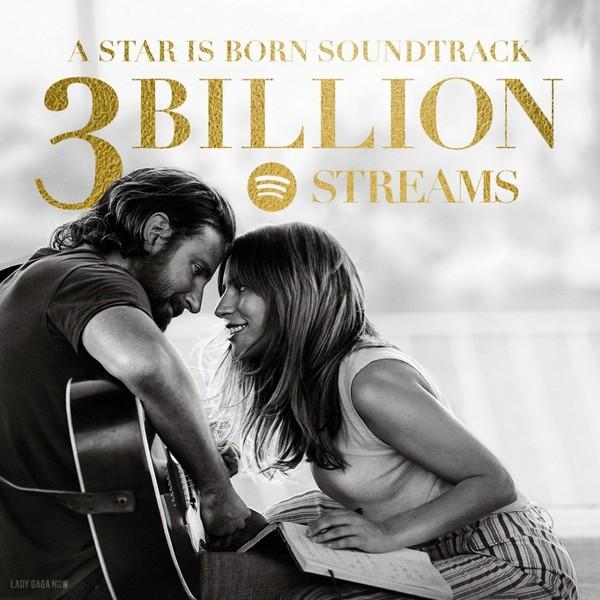 A Star Is Born Soundtrack przekroczył 3 miliony odtworzeń na Spotify To