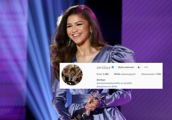 NEWS Zendaya zdobyła 95 mln obserwujących na Instagramie
