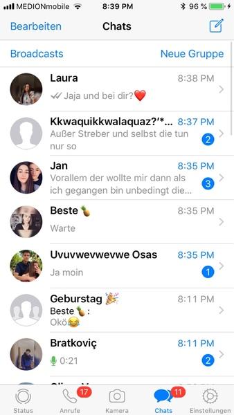 Whatsappverlauf