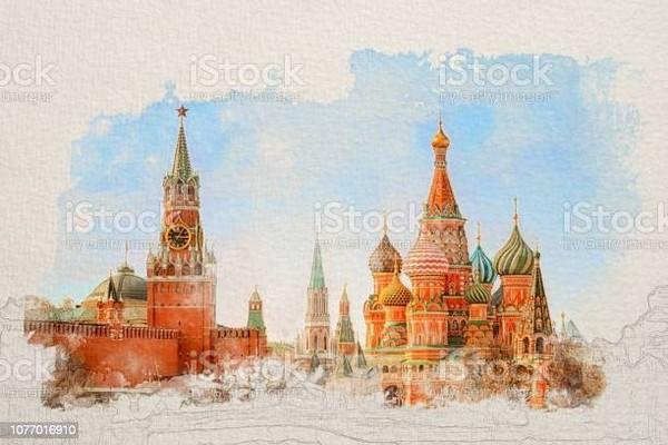 Buongiorno nuovo stato Russia primo monumento Piazza Rossa