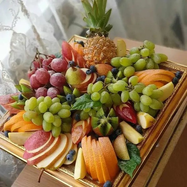 холодильник  тема  нарезка из фруктов  жду картинку 1020минут    ᛕɼﻝรɭﻝกค
