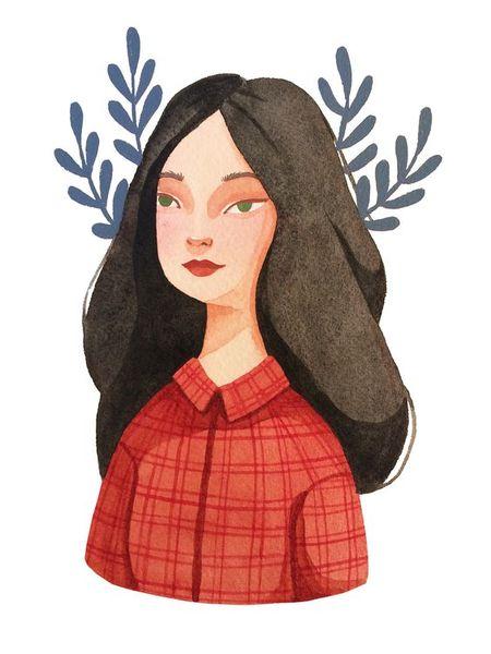 Uiii  Tớ thích Watercolor bên các cậu lắm ý  Cho tớ thêm 1 pic cô gái nha Dạng