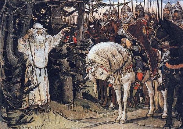 Kunigas z drużyną wojów składa wizytę Żercy