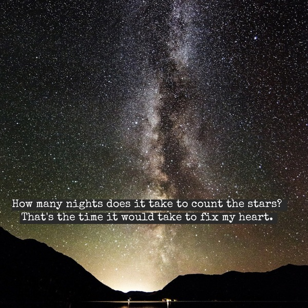 how many nights does it take to count the stars
