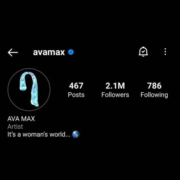 Ava Max zmieniła swoje zdjęcie profilowe na coś czego wcześniej nie
