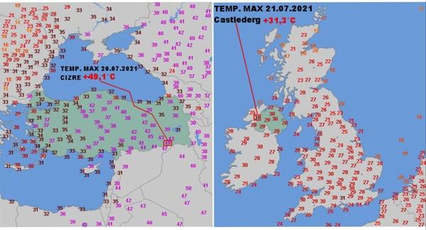 Kolejne rekordy ciepła  gdzie dokładnie i ile  Odp poniżej