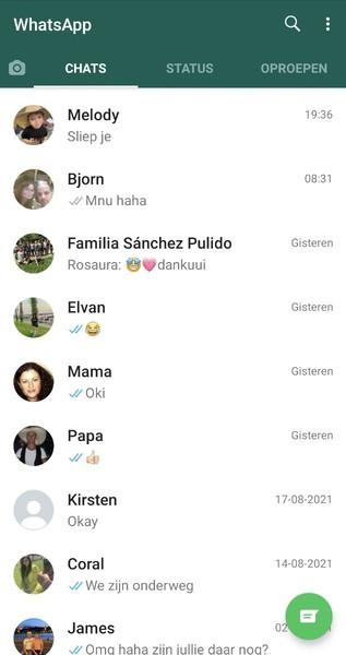 Pap je app gesprekken