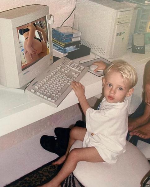 Kannst du ein Foto aus deiner Kindheit posten