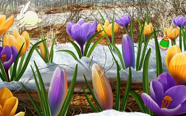 Ieposto bildi ar pavasarīgu noskaņu