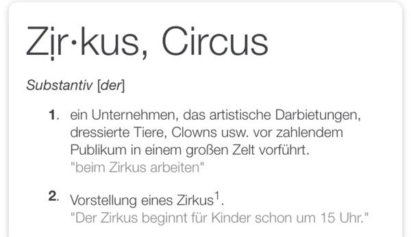 Was ist ein Zirkus