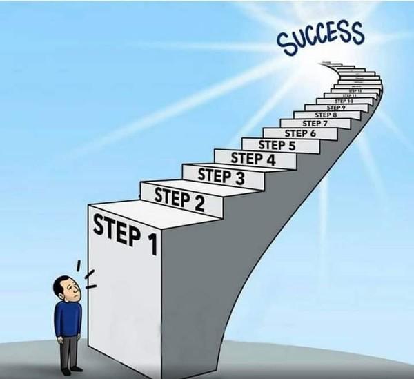 الخطوة الأولى هي الأصعب  افعلها وكل شيء سيصبح سهلا
